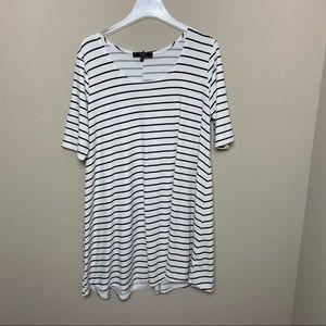 Vibe Sportswear | Striped Tunic Dress